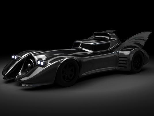 这台蝙蝠侠车搭载福特v8发动机,由设计师george barris设计完成,超终