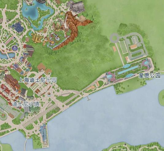 手绘小镇平面地图