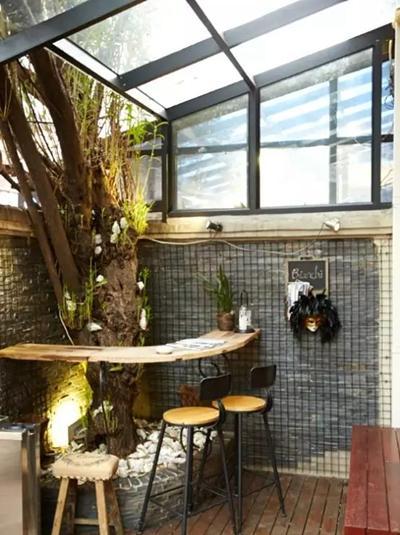 100平小庭院设计实景图