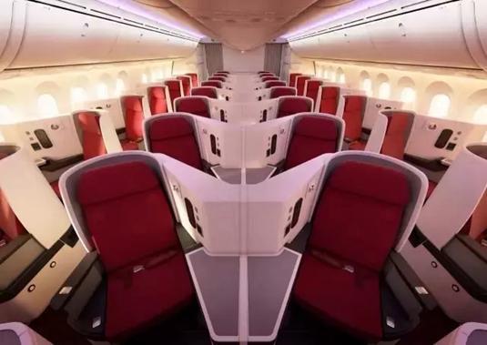 此机型超大的亮点就是商务舱配备了目前超为流行的