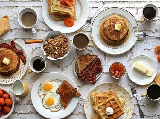 欧式午餐唯美图片