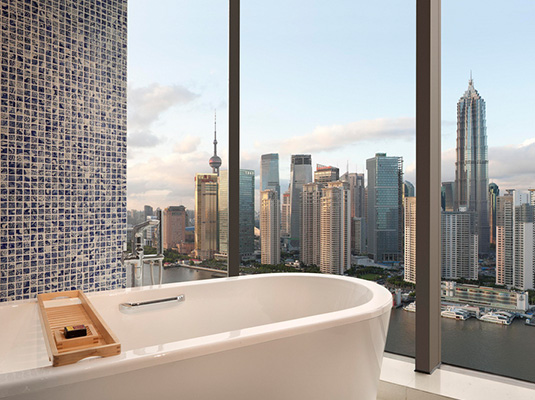 浪漫诱惑 沪上可以看风景的酒店浴缸